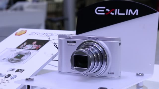 casio computer co ltds exilm z7311 is displayed at the cp+ camera and photo imaging show in yokohama, kanagawa prefecture, japan, on thursday, feb 25... - scientific imaging technique stock videos & royalty-free footage
