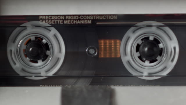 CU Cassette Tape Playing Front View
