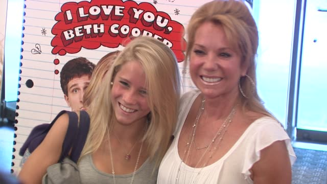 cassidy gifford and kathie lee gifford at the 'i love you beth cooper' screening at new york ny. - kathie lee gifford stock videos & royalty-free footage