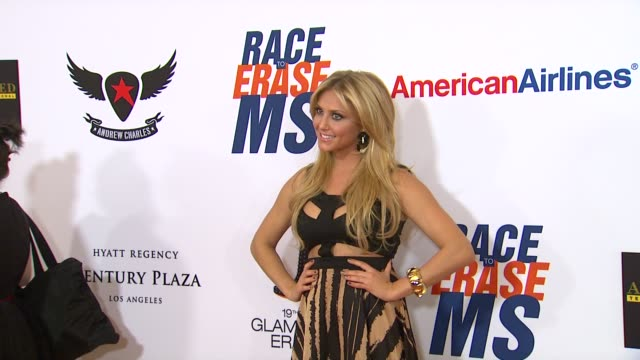 cassie scerbo at 19th annual race to erase ms glam rock to erase ms on 5/18/12 in los angeles ca - race to erase ms stock videos and b-roll footage