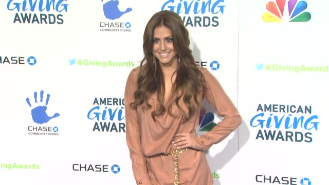cassie scerbo at the 2nd annual american giving awards presented by chase on in pasadena ca - hinterher bewegen stock-videos und b-roll-filmmaterial