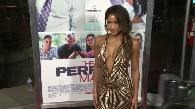 cassie ventura at the perfect match los angeles premiere at arclight cinemas on march 07 2016 in hollywood california - arclight cinemas hollywood stock videos & royalty-free footage