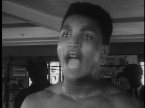 cassius clay harangues a reporter. - sport stock videos & royalty-free footage