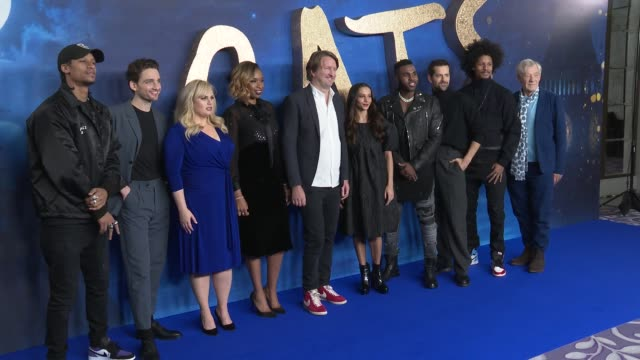 "cast and crew at ""cats"" photocall at the corinthia hotel on december 13, 2019 in london, england. - film stock videos & royalty-free footage"