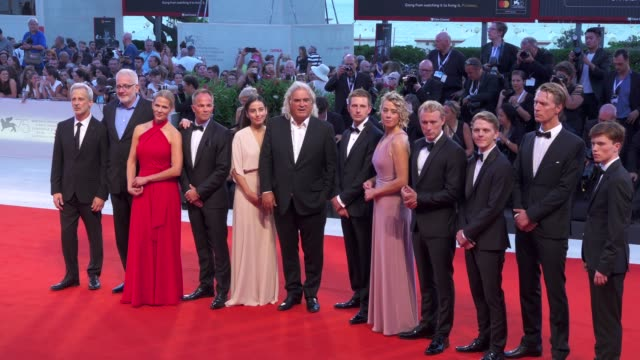 cast and crew of '22 july' arrive on the red carpet during the 75th venice film festival on september 5 2018 in venice italy - film festival stock videos & royalty-free footage