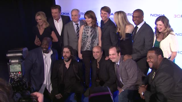 "cast and crew of 30 rock at ""30 rock"" series finale wrap party at capitale on december 20, 2012 in new york, new york - cast member stock videos & royalty-free footage"