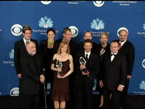 Cast and crew of 'CSI Crime Scene Investigation' at the 2005 People's Choice Awards Photo Room at the Pasadena Civic Auditorium in Pasadena...
