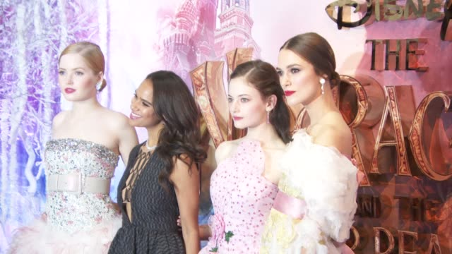 Cast at The Nutcracker And The Four Realms Gala Screening on November 1 2018 in London England
