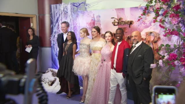 Cast at The Nutcracker And The Four Realms Gala Screeningon November 1 2018 in London England