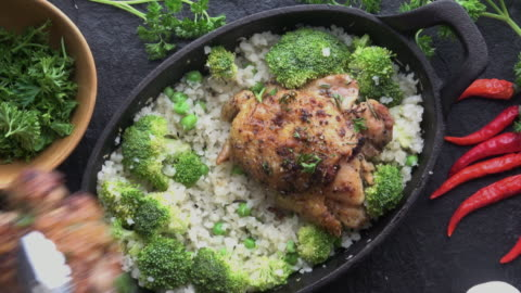 cast iron chicken chicken thighs - homemade stock videos & royalty-free footage