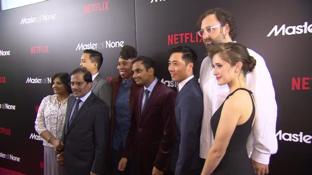 cast members at master of none new york premiere at amc loews 19th street theater on november 05 2015 in new york city - amc loews stock videos and b-roll footage