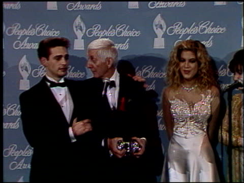 Cast of 90210 at the 1992 People's Choice Awards at Universal Studios in Universal City California on March 1 1992
