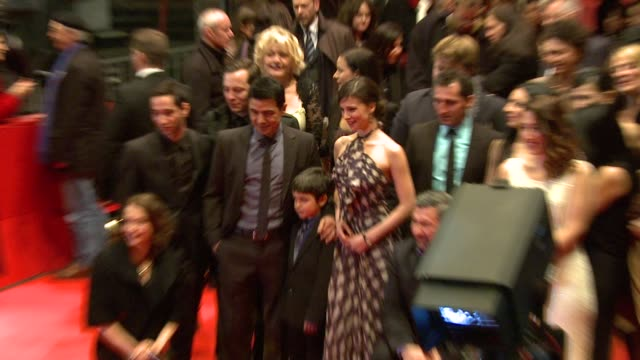 cast of 'almanya willkommen in deutschland' at the almanya red carpet 61st berlin international film festival at berlin - deutschland stock videos & royalty-free footage