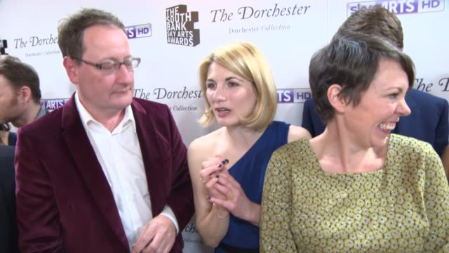 INTERVIEW Cast of Broadchurch on winning an award and working on Broadchurch at South Bank Sky Arts Award at Dorchester Hotel on January 27 2014 in...