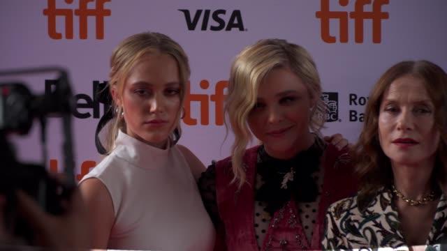 Cast of 'Greta' arrives on the red carpet during the Toronto International Film Festival on September 6 2018 in Toronto Canada