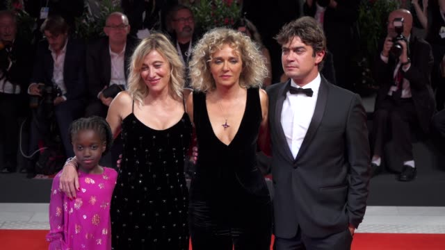 cast of 'les estivants' arrives on the red carpet during the 75th venice film festival on september 5 2018 in venice italy - film festival stock videos & royalty-free footage