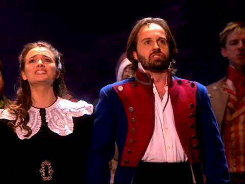 Cast of Les Miserables at the Classic Brit Awards at London England