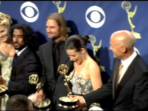 cast of 'lost' at the 2005 emmy awards press room at the shrine auditorium in los angeles, california on september 19, 2005. - shrine auditorium stock videos & royalty-free footage