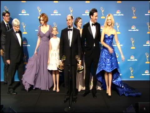 cast of 'mad men' at the 62nd primetime emmy awards press room at los angeles ca - エミー賞点の映像素材/bロール