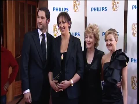 cast of 'miranda' at the tv baftas - patricia hodge stock videos and b-roll footage