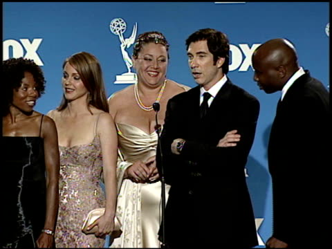 cast of practice the at the 1999 emmy awards press room at the shrine auditorium in los angeles california on september 12 1999 - cast member stock videos & royalty-free footage