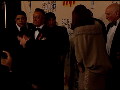 cast of sopranos the at the 2000 screen actors guild sag awards at the shrine auditorium in los angeles california on march 12 2000 - cast member stock videos & royalty-free footage