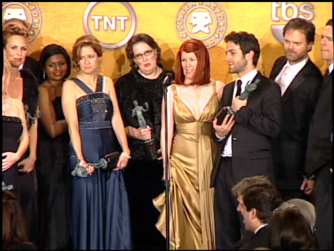 cast of 'the office' at the 2008 screen actors guild sag awards press room at the shrine auditorium in los angeles california on january 27 2008 - television show stock videos & royalty-free footage