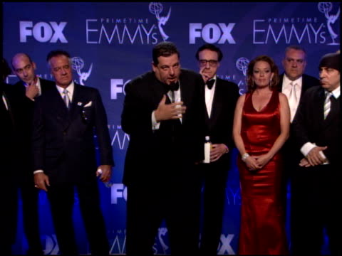 cast of 'the sopranos' winner for drama series at the 2007 emmy awards press room at the shrine auditorium in los angeles california on september 16... - cast member stock videos & royalty-free footage