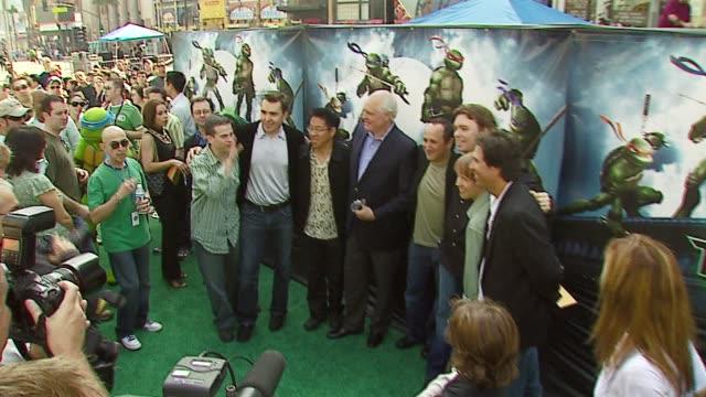 cast of tmnt at the 'teenage mutant ninja turtles' world premiere at grauman's chinese theatre in hollywood, california on march 17, 2007. - teenage mutant ninja turtles stock videos & royalty-free footage