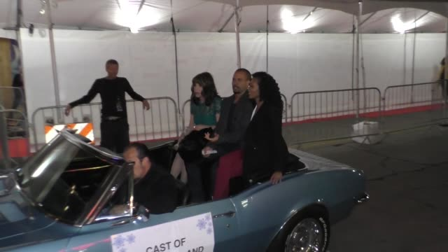 Cast of 'Young And The Restless' outside the Hollywood Christmas Parade in Hollywood in Celebrity Sightings in Los Angeles
