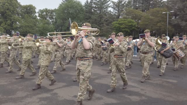 cast take part in the working rehearsal for the first full run-through of the royal edinburgh military tattoo on july 31, 2019 in edinburgh,... - tattoo stock videos & royalty-free footage