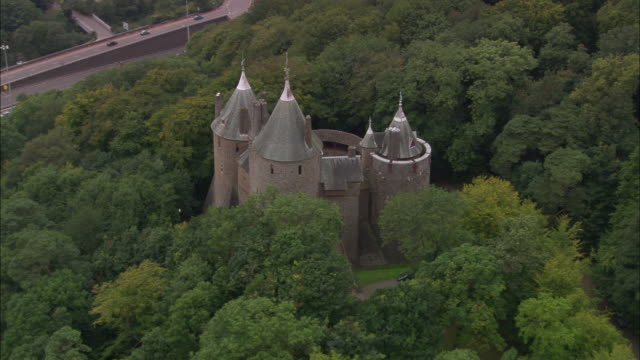 castel coch - cardiff wales stock videos & royalty-free footage