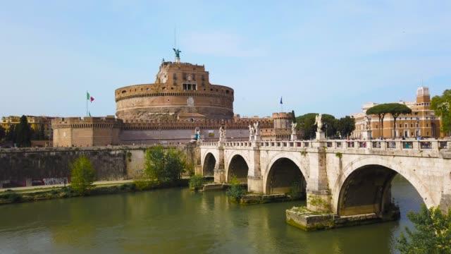 カステルサンタンジェロ in ローマ - ラツィオ州点の映像素材/bロール