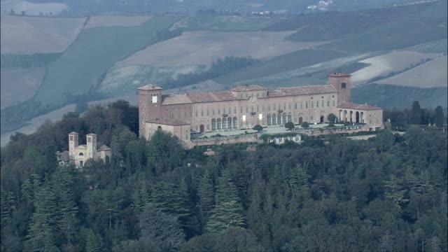 Castello Di Montalto Pavese  - Aerial View - Lombardy, Provincia di Pavia, Montalto Pavese, Italy