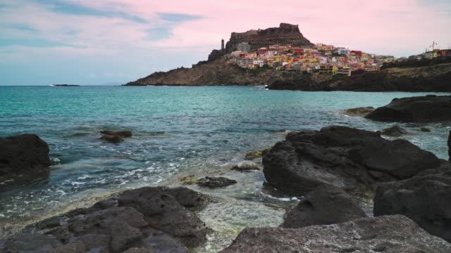 castelsardo, sardinia. - sassari stock videos & royalty-free footage
