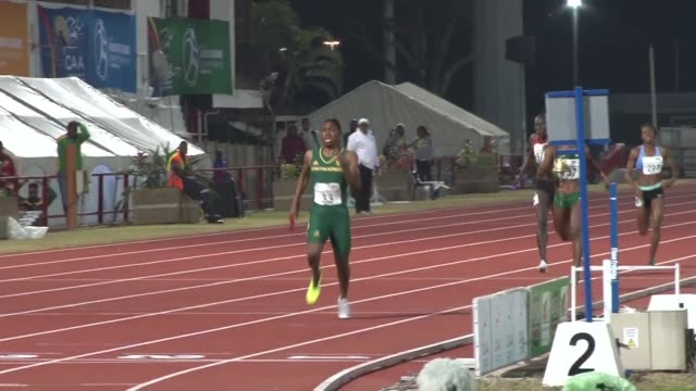 caster semenya bows out of the african athletics championships in durban after winning three gold medals from two individual events and the 4x400... - caster semenya stock videos & royalty-free footage