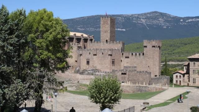 castillo de javier - comunidad foral de navarra stock videos and b-roll footage