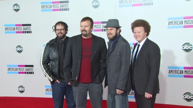 casting crowns at the 2010 american music awards arrivals at los angeles ca - american music awards stock videos and b-roll footage
