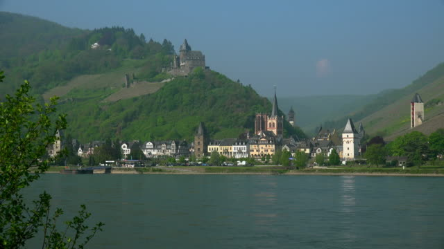 castle and town - river rhine stock videos & royalty-free footage