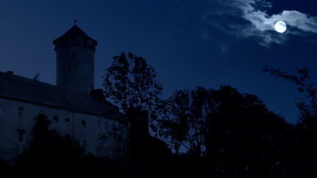 castle at night - castle stock videos & royalty-free footage