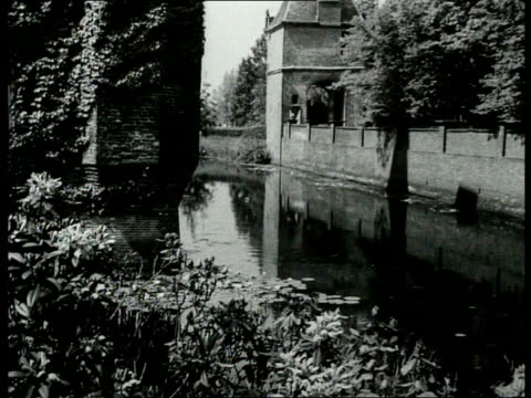 1941 B/W Castle by the Vecht / Utrecht, Netherlands