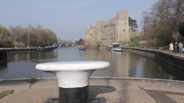 castle & canal, newark, nottinghamshire, england, uk, europe - unknown gender stock videos and b-roll footage