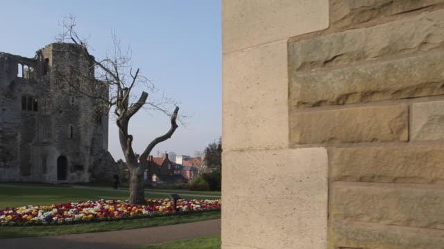 castle & gardens, newark, nottinghamshire, england, uk, europe - circa 12th century stock videos & royalty-free footage