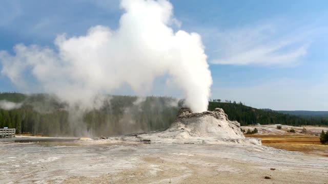 """castle geyser, yellowstone"" - geyser stock videos & royalty-free footage"
