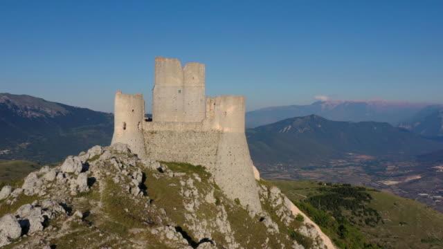 castle in rocca calascio, gran sasso national park, abruzzo, italy - castle stock videos & royalty-free footage