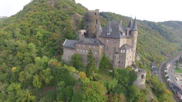 castle katz - rhein stock-videos und b-roll-filmmaterial