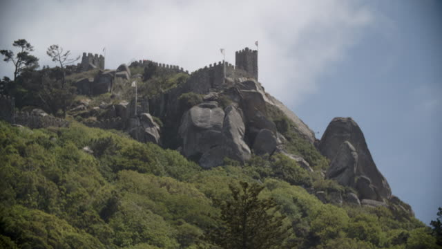 Castle of the Moors on the Hills of Sintra / Lisbon, Portugal