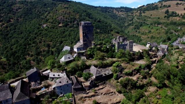 castle of valon, aveyron, france - circa 12th century stock videos & royalty-free footage