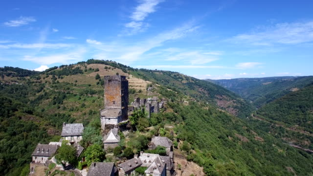 castle of valon, aveyron, france - circa 12th century stock videos & royalty-free footage