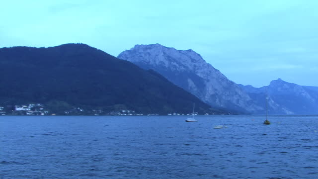 zi, ws, castle ort and traunsee lake, gmunden, austria - austrian culture stock videos & royalty-free footage